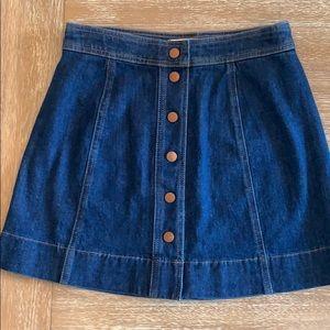 Madewell A-Line Denim Skirt